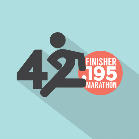 finisher: Marathon Finisher Typography Design Vector Illustration