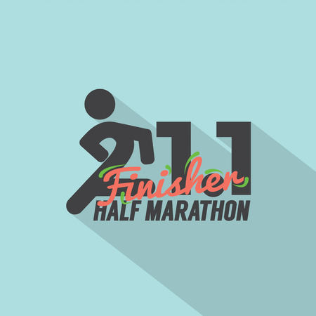finisher: Half Marathon Finisher Typography Design Vector Illustration Illustration