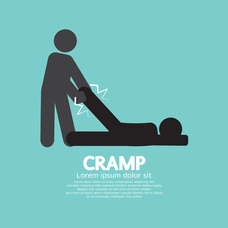 Man Help The Athlete From Cramp Vector Illustration