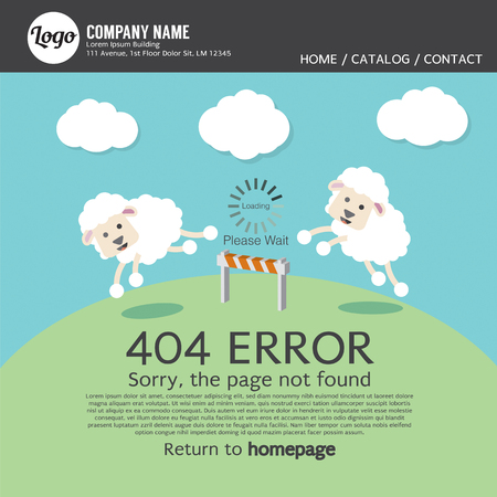 found: Page Not Found Error 404 Vector Illustration Illustration
