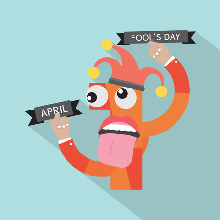 April Fool's Day Vector Illustration
