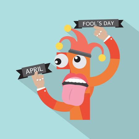 prank: April Fools Day Vector Illustration