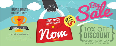 big sale: Big Sale 1500x600 pixel Vector Illustration
