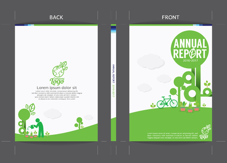 Green Cover Template Vector Illustration