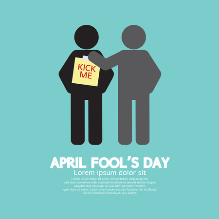 April Fool's Day Concept Symbol Vector Illustration Zdjęcie Seryjne - 52198923
