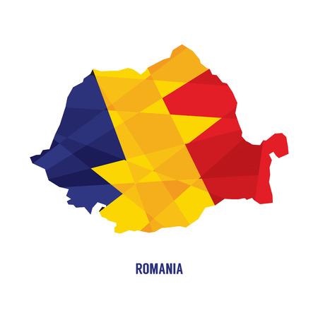 romania flag: Map of Romania Vector Illustration Illustration