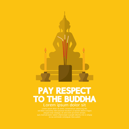 Pay Respect To The Buddha Vector Illustration Çizim