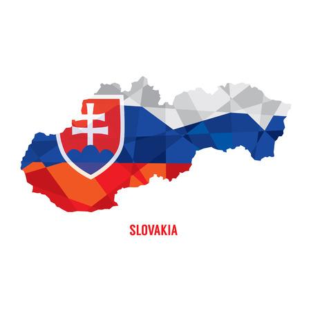 slovakia flag: Map of Slovakia Vector Illustration