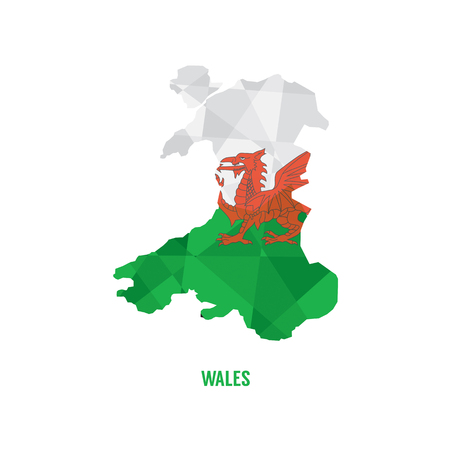 wales: Map of Wales Vector Illustration