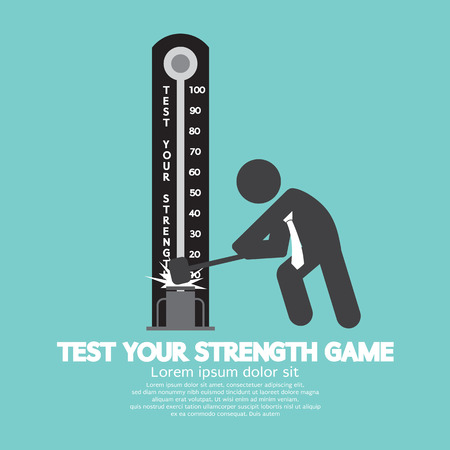Test Your Strength Game Symbol Vector Illustration Illustration