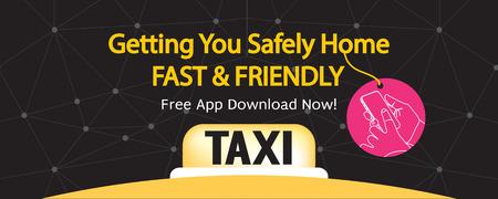 24 hour: 24 Hour Taxi Service 1500x600 Pixel Banner Vector Illustration Illustration