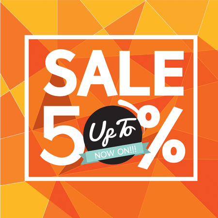 advertisement: Sale Uo To 50 Percent Banner Vector Illustration Illustration
