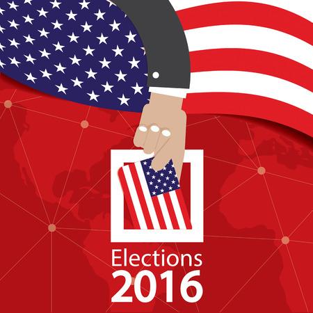 Illustrazione USA Election Concetto vettore