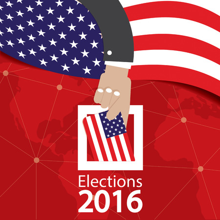 politics: USA Election Concept Vector Illustration
