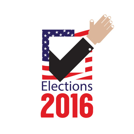 elections: USA Elections Vote 2016 Concept Vector Illustration Illustration