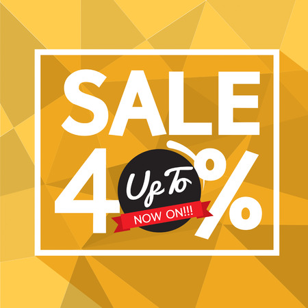 40: Sale Uo To 40 Percent Banner Vector Illustration