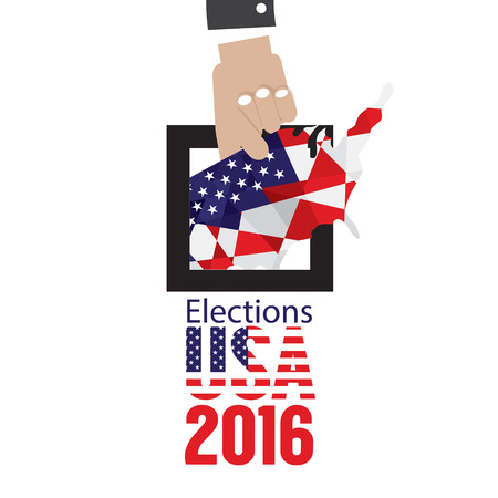presidency: USA Elections Vote 2016 Concept Vector Illustration Illustration