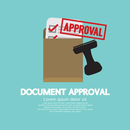 approval stamp: Document Approval Stamp Vector Illustration