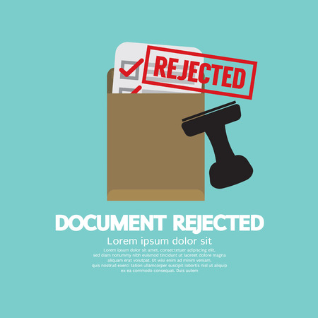 rejected: Document Rejected Stamp Vector Illustration Illustration