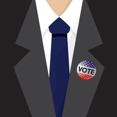 opt: T-Shirt USA Flag Vote 2016 Vector Illustration