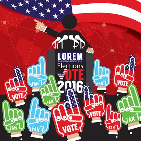 Ilustración Campaña política vector de la bandera