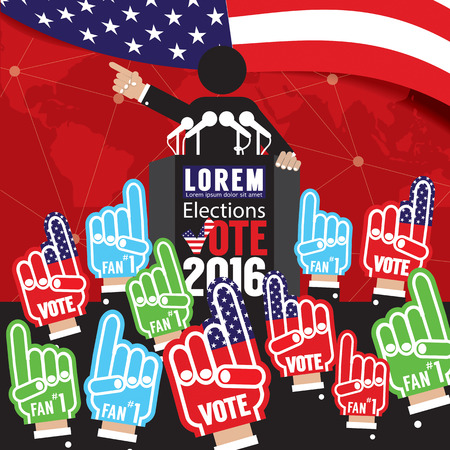 nomination: Political Campaign Banner Vector Illustration