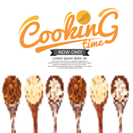 cooking time: Cooking Time Background Vector Illustration