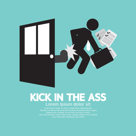 kicked out: Kick In The Ass Symbol Vector Illustration Illustration