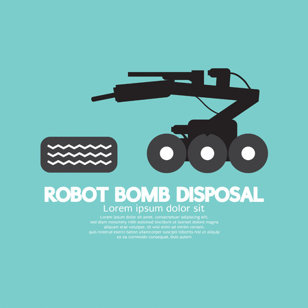 disposal: Robot Bomb Disposal Vector Illustration Illustration
