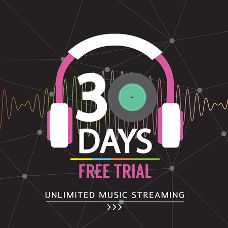 unlimited: 30 Days Free Trial Unlimited Music Streaming  Illustration