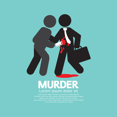 stabbed: Businessman Being Stabbed With A Knife Vector Illustration