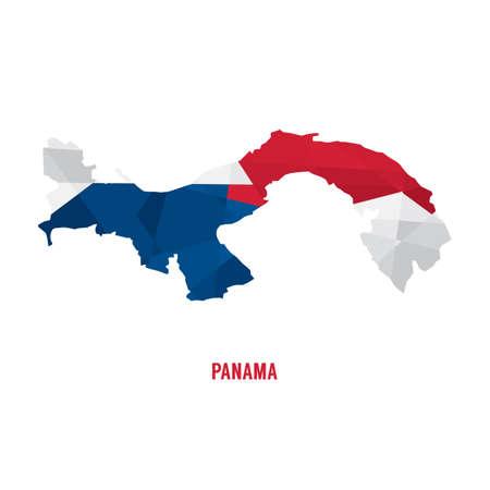 bandera panama: Map of Panama a Vector Illustration