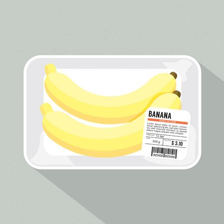 Ilustración de plátano Paquete