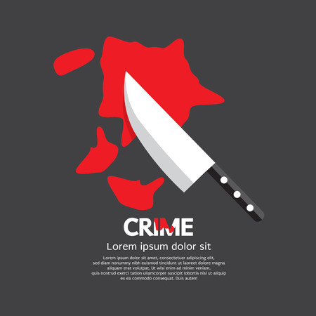 casualty: Bloody Knife Crime Concept Vector Illustration Illustration
