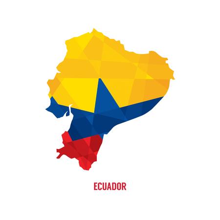 ecuador: Map Of Ecuador Vector Illustration