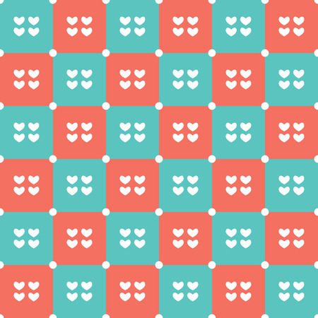 duotone: Duotone Hearts Seamless Pattern Vector Illustration