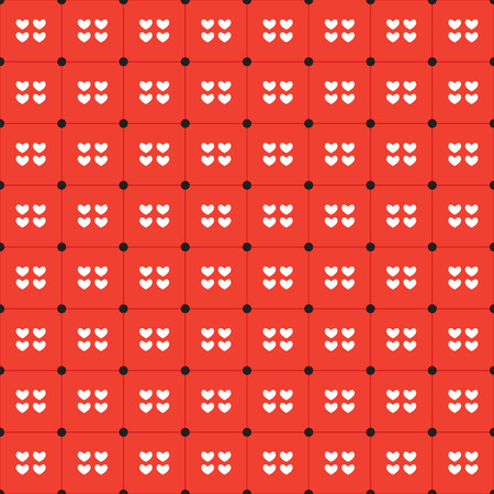 duotone: White Hearts Seamless Pattern Vector Illustration