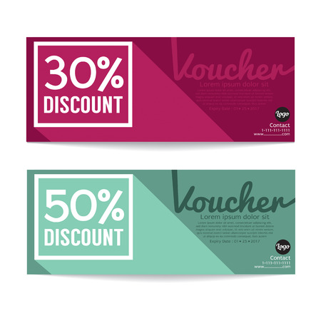 green coupon: Gift Voucher Coupon Template Vector Illustration