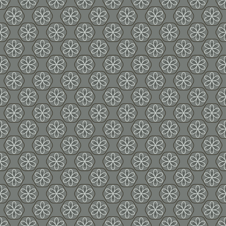 repeat texture: Seamless Vintage Heart Pattern Vector Illustration
