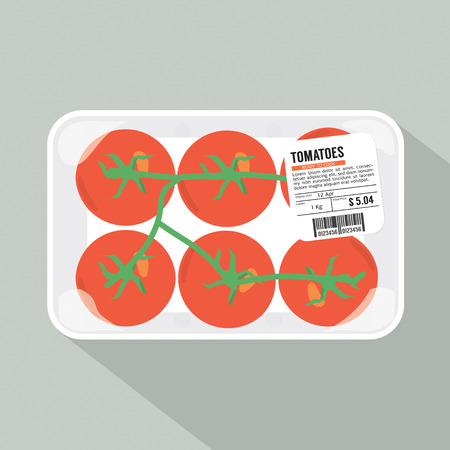 packed: Tomatoes Pack Vector Illustration