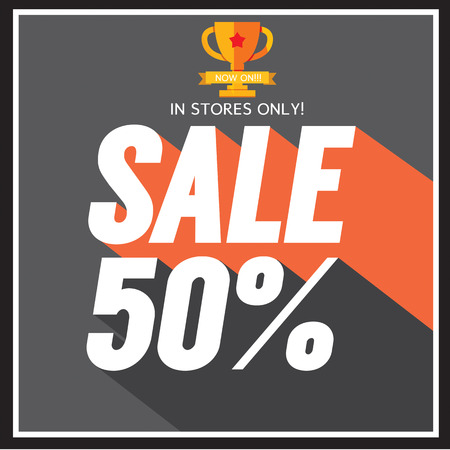 50: Sale up to 50 percent Vector Illustration