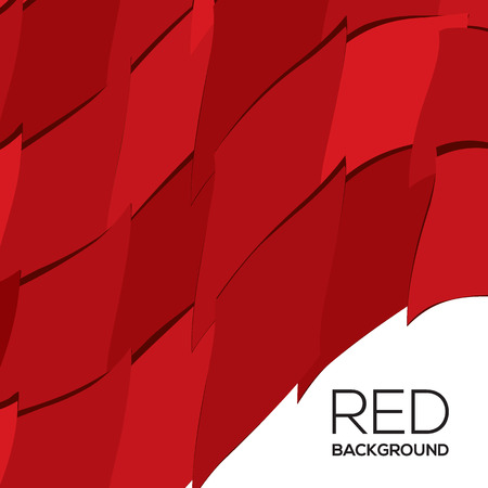 Red Graphic Background Vector Illustration
