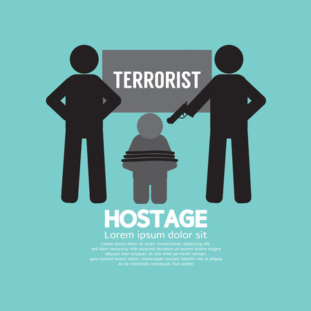 kidnapped: Hostage Concept Vector Illustration