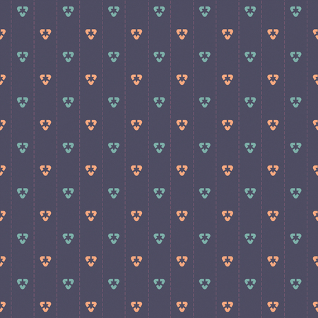 navy blue background: Pink And Blue Graphic On Navy Blue Background Seamless Pattern Vector Illustration