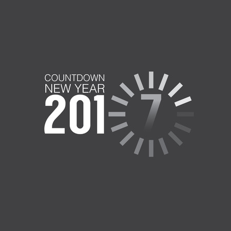 countdown: 2017 Countdown Loading Vector Illustration Illustration