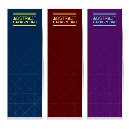 background purple: Set Of Three Abstract Vertical Banners Vector Illustration Illustration