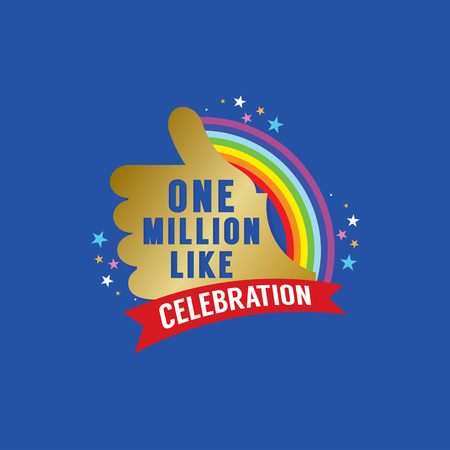 likes: One Million Likes Celebration Vector Illustration Illustration