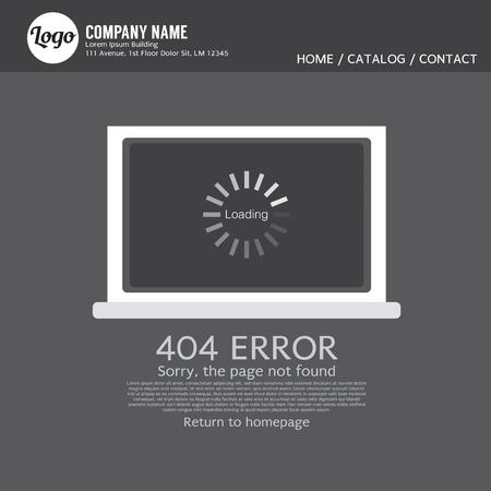 renovating: Page Not Found Error 404 Vector Illustration Illustration