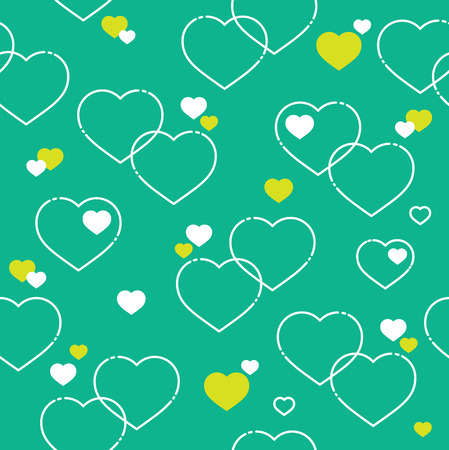 abstract seamless: Seamless White Hearts Pattern Illustration