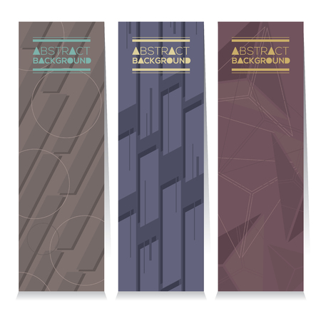 advertising signs: Modern Design Set Of Different Three Stripes Graphic Vertical Banners Illustration